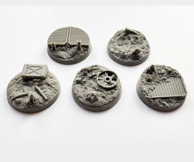 40mm Trench Warfare Bases Set 2 (5)